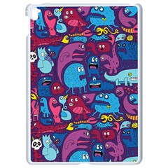 Hipster Pattern Animals And Tokyo Apple Ipad Pro 9 7   White Seamless Case