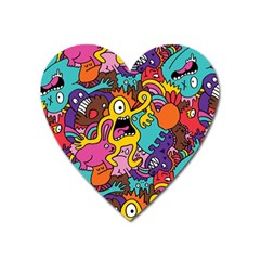 Monster Patterns Heart Magnet by BangZart
