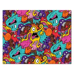 Monster Patterns Rectangular Jigsaw Puzzl