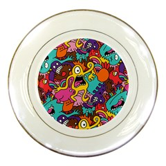 Monster Patterns Porcelain Plates by BangZart