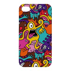 Monster Patterns Apple Iphone 4/4s Premium Hardshell Case by BangZart