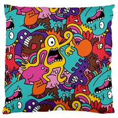 Monster Patterns Large Cushion Case (two Sides) by BangZart