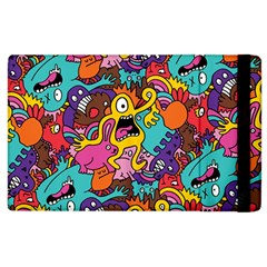 Monster Patterns Apple Ipad 2 Flip Case by BangZart