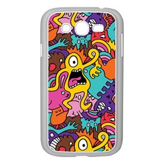Monster Patterns Samsung Galaxy Grand Duos I9082 Case (white) by BangZart
