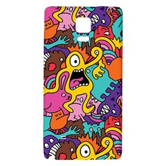 Monster Patterns Galaxy Note 4 Back Case by BangZart