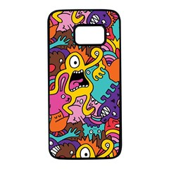 Monster Patterns Samsung Galaxy S7 Black Seamless Case