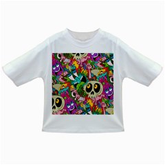 Crazy Illustrations & Funky Monster Pattern Infant/toddler T Shirts by BangZart