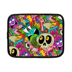 Crazy Illustrations & Funky Monster Pattern Netbook Case (small)  by BangZart