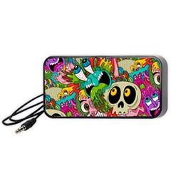 Crazy Illustrations & Funky Monster Pattern Portable Speaker (black) by BangZart