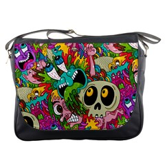 Crazy Illustrations & Funky Monster Pattern Messenger Bags by BangZart