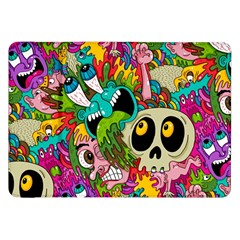 Crazy Illustrations & Funky Monster Pattern Samsung Galaxy Tab 8 9  P7300 Flip Case by BangZart