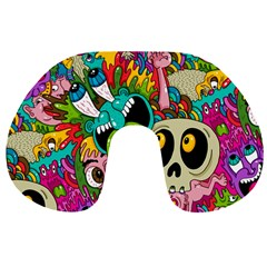Crazy Illustrations & Funky Monster Pattern Travel Neck Pillows by BangZart