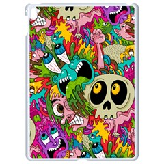 Crazy Illustrations & Funky Monster Pattern Apple Ipad Pro 9 7   White Seamless Case by BangZart