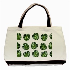 Leaf Pattern Seamless Background Basic Tote Bag by BangZart