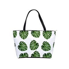 Leaf Pattern Seamless Background Shoulder Handbags by BangZart