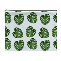 Leaf Pattern Seamless Background Cosmetic Bag (xl) by BangZart