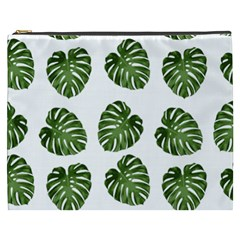 Leaf Pattern Seamless Background Cosmetic Bag (xxxl)  by BangZart