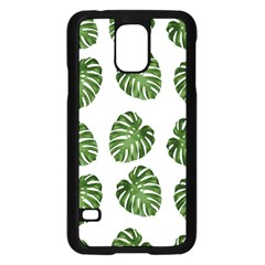 Leaf Pattern Seamless Background Samsung Galaxy S5 Case (black)
