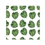 Leaf Pattern Seamless Background Small Satin Scarf (Square) Front