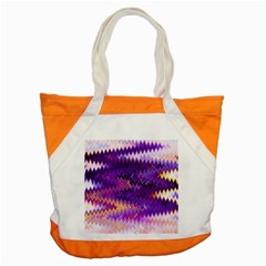Purple And Yellow Zig Zag Accent Tote Bag