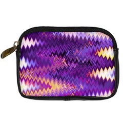 Purple And Yellow Zig Zag Digital Camera Cases by BangZart