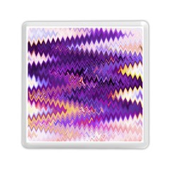 Purple And Yellow Zig Zag Memory Card Reader (square)  by BangZart