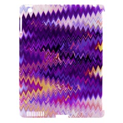 Purple And Yellow Zig Zag Apple Ipad 3/4 Hardshell Case (compatible With Smart Cover) by BangZart