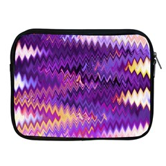 Purple And Yellow Zig Zag Apple Ipad 2/3/4 Zipper Cases