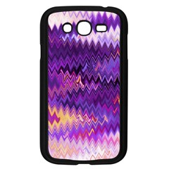 Purple And Yellow Zig Zag Samsung Galaxy Grand Duos I9082 Case (black) by BangZart