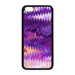 Purple And Yellow Zig Zag Apple Iphone 5c Seamless Case (black) by BangZart