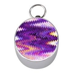 Purple And Yellow Zig Zag Mini Silver Compasses by BangZart