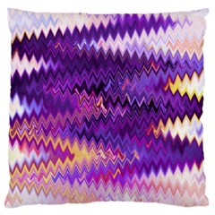 Purple And Yellow Zig Zag Standard Flano Cushion Case (one Side)