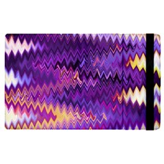 Purple And Yellow Zig Zag Apple Ipad Pro 9 7   Flip Case
