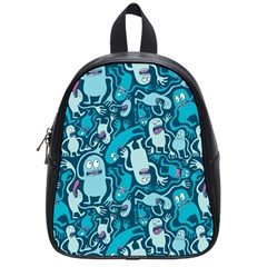 Monster Pattern School Bags (small)  by BangZart