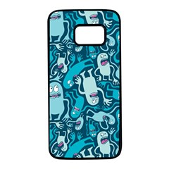 Monster Pattern Samsung Galaxy S7 Black Seamless Case by BangZart