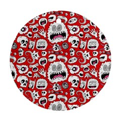 Another Monster Pattern Ornament (round) by BangZart