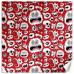 Another Monster Pattern Canvas 20  X 20   by BangZart