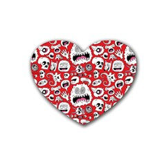 Another Monster Pattern Rubber Coaster (heart)  by BangZart