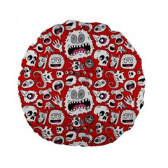 Another Monster Pattern Standard 15  Premium Round Cushions by BangZart