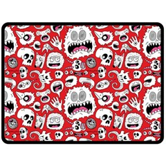 Another Monster Pattern Double Sided Fleece Blanket (large)  by BangZart