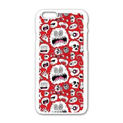 Another Monster Pattern Apple Iphone 6/6s White Enamel Case by BangZart