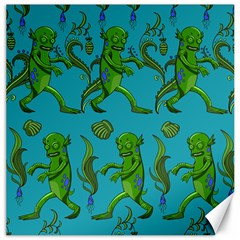 Swamp Monster Pattern Canvas 12  X 12   by BangZart
