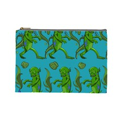 Swamp Monster Pattern Cosmetic Bag (large)  by BangZart