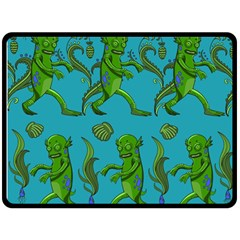 Swamp Monster Pattern Fleece Blanket (large)  by BangZart