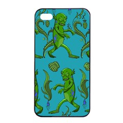 Swamp Monster Pattern Apple Iphone 4/4s Seamless Case (black) by BangZart