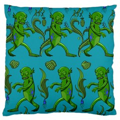 Swamp Monster Pattern Large Cushion Case (two Sides) by BangZart
