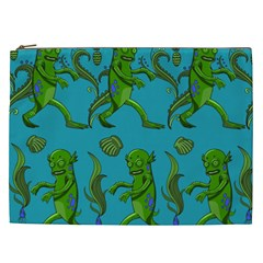 Swamp Monster Pattern Cosmetic Bag (xxl)  by BangZart