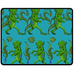 Swamp Monster Pattern Double Sided Fleece Blanket (medium)  by BangZart