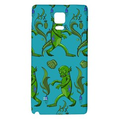 Swamp Monster Pattern Galaxy Note 4 Back Case by BangZart