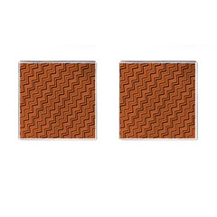 Brown Zig Zag Background Cufflinks (square) by BangZart